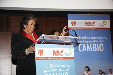 Rita Barberá en el VIII Congreso Nacional de Familias Numerosas