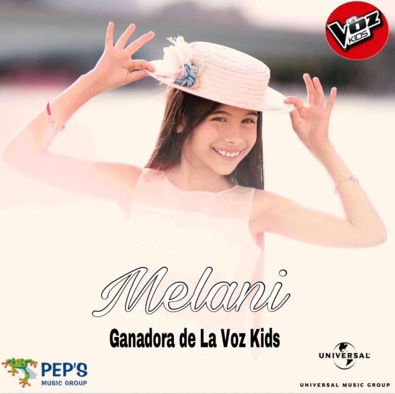 Melani, ganadora de La Voz Kids.