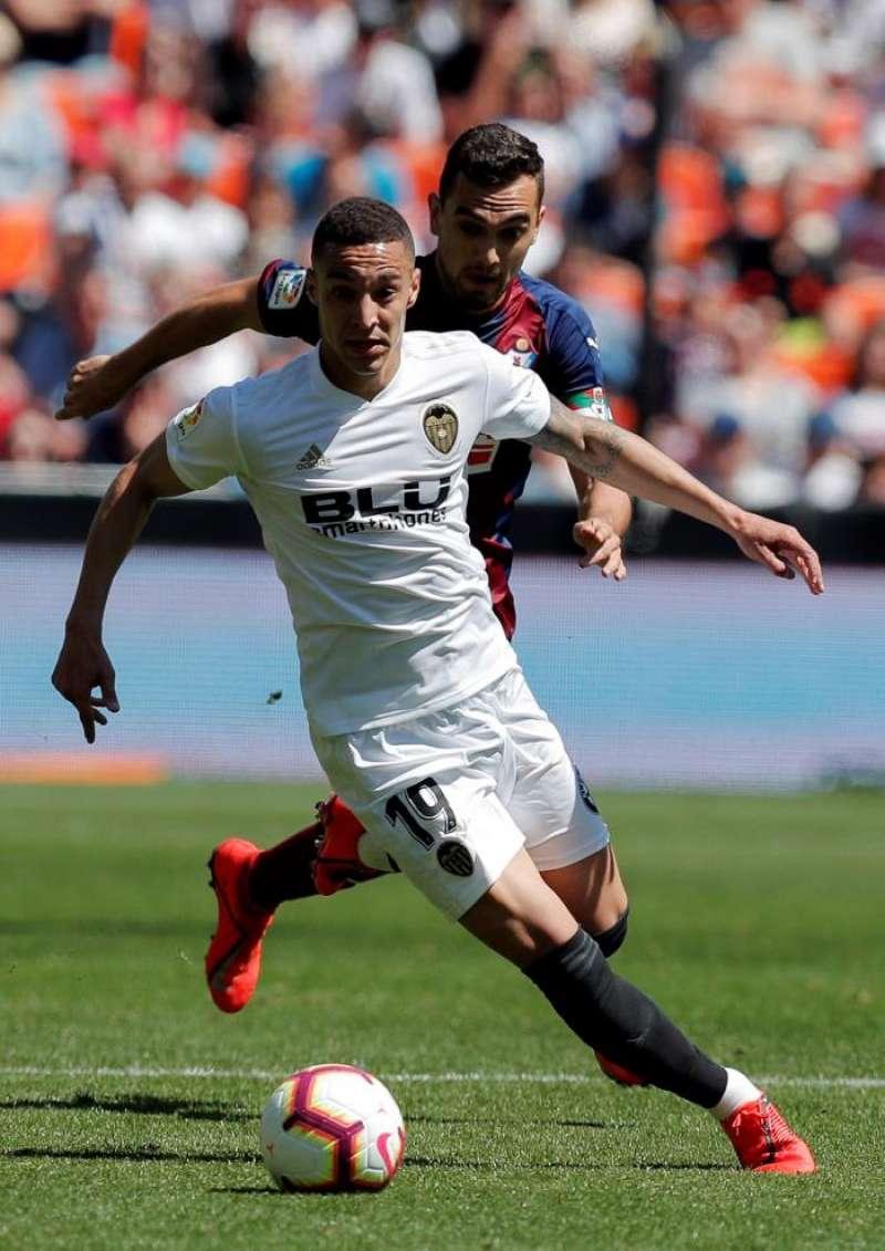 El delantero del Valencia, Rodrigo Moreno. EFE/Archivo