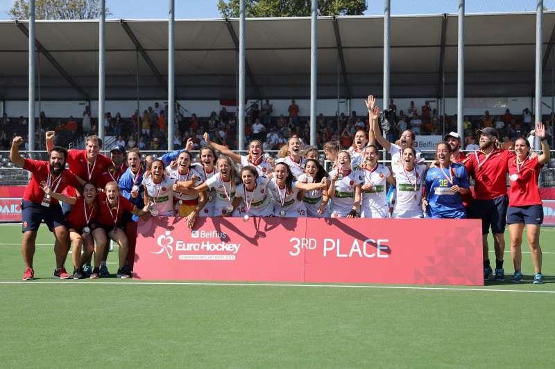 Medalla de bronce para la selección española absoluta femenina. EPDA