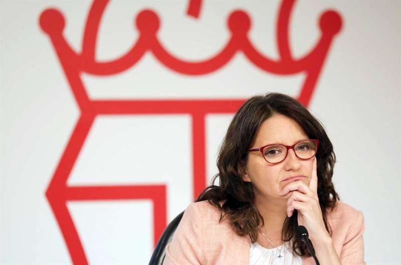 La vicepresidenta y portavoz del Consell y líder de Compromís, Mónica Oltra, en una imagen reciente. EFE/Ana Escobar