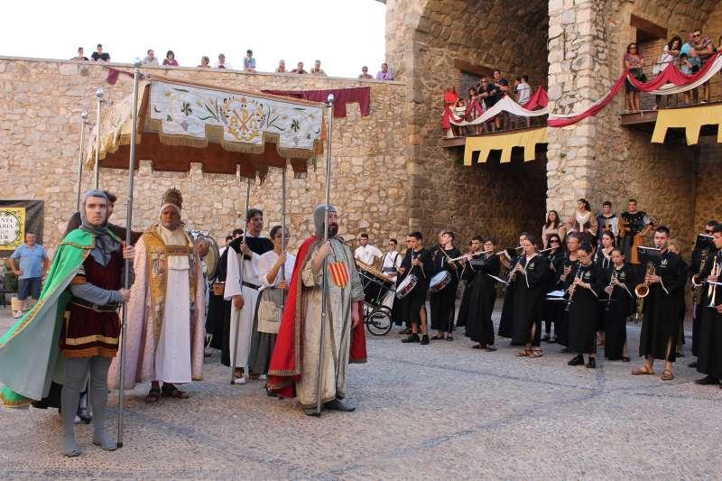 Recreación histórica del paso del Papa Luna por Peñíscola.