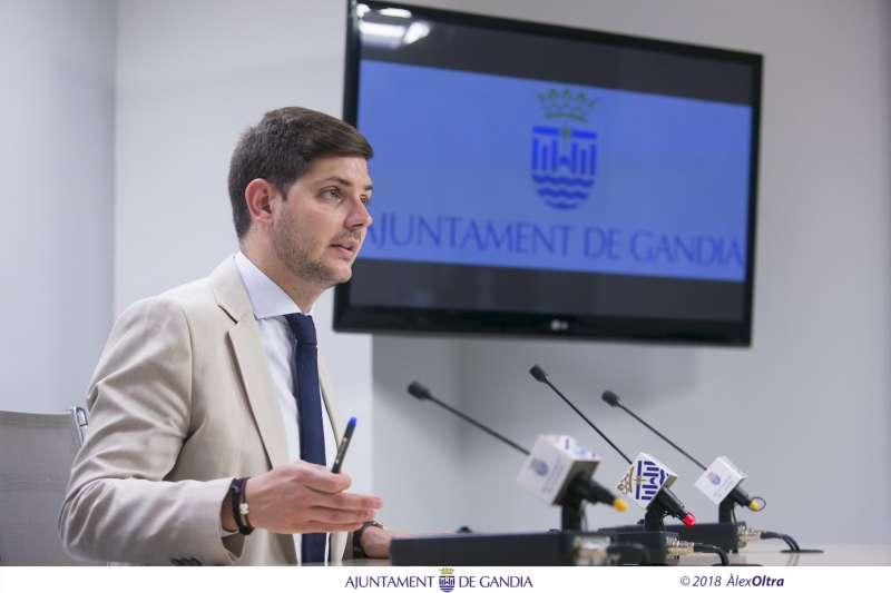 El coportaveu del govern de Gandia, Jose Manuel Prieto. EPDA