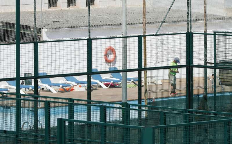 Vista de una piscina. EFE/Andreu Dalmau/Archivo