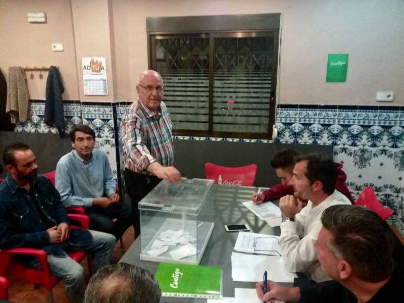 Como en todas las agrupaciones creadas, Contigo eligió democráticamente a sus representates