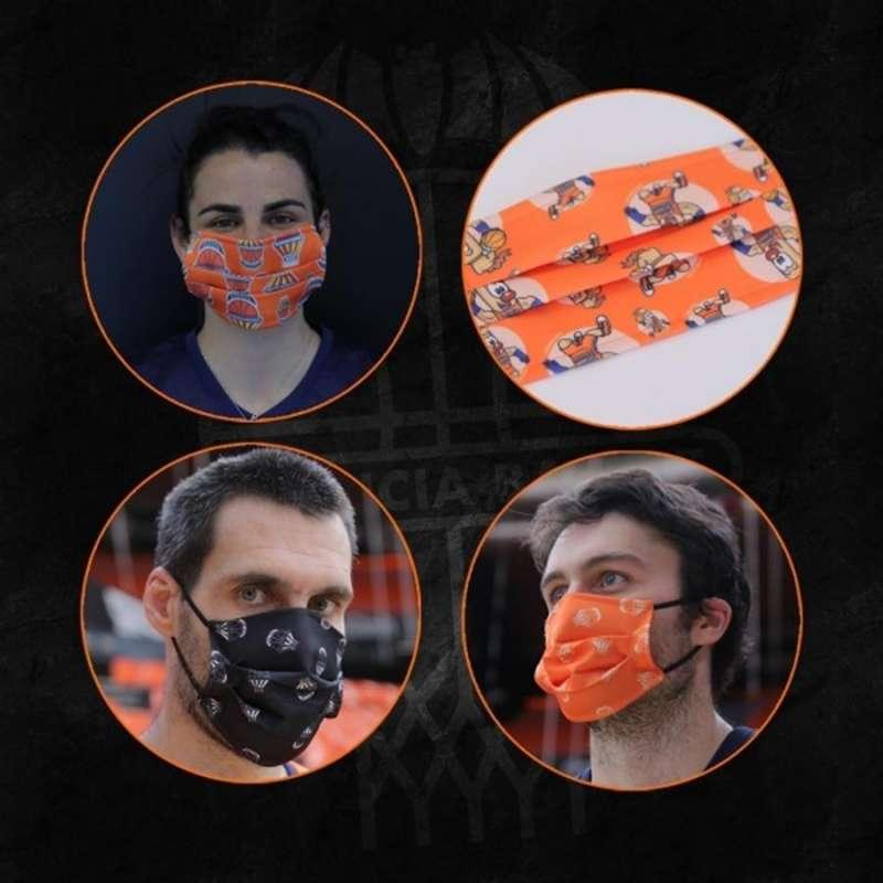 Las mascarillas, en una imagen de la página oficial del Valencia Basket.
