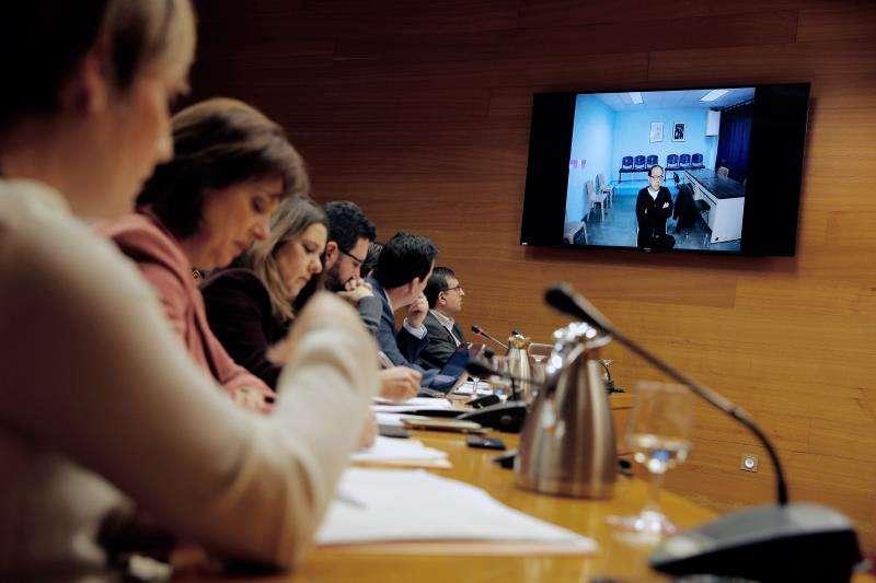 El exresponsable de Orange Market Álvaro Pérez, el Bigotes, durante su declaración por videoconferencia en Les Corts. EFE/Archivo