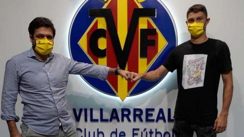 El Villarreal hace oficial el fichaje de Jorge Cuenca, en una imagen compartida por el club.