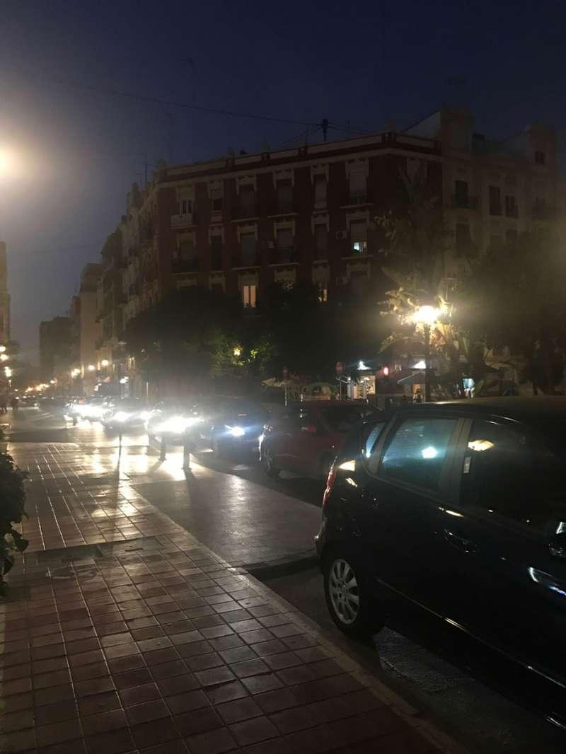 Calle Cuba a las 20 horas. FOTO EPDA