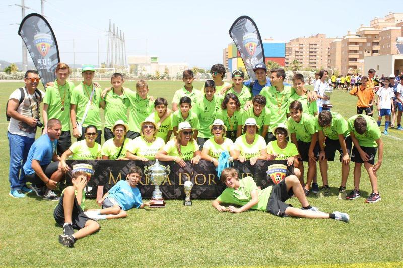 Participaron equipos de cuatro categorías infantiles