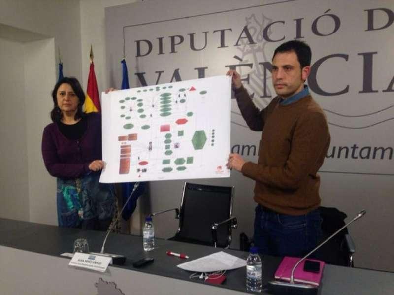 La diputada provincial d?Esquerra Unida, Rosa Pérez Garijo