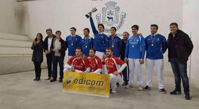 Los jugadores de Algímia en la final de la anterior temporada cuando se proclamaron campeones de Primera. EPDA