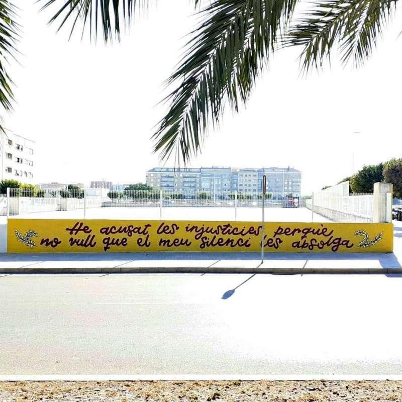 Mural en contra de la violencia de gènere