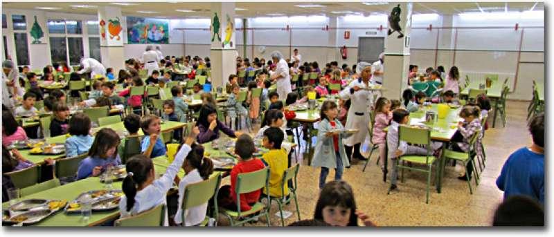 Niños en el comedor de uno de los colegios de la Comunitat Valenciana