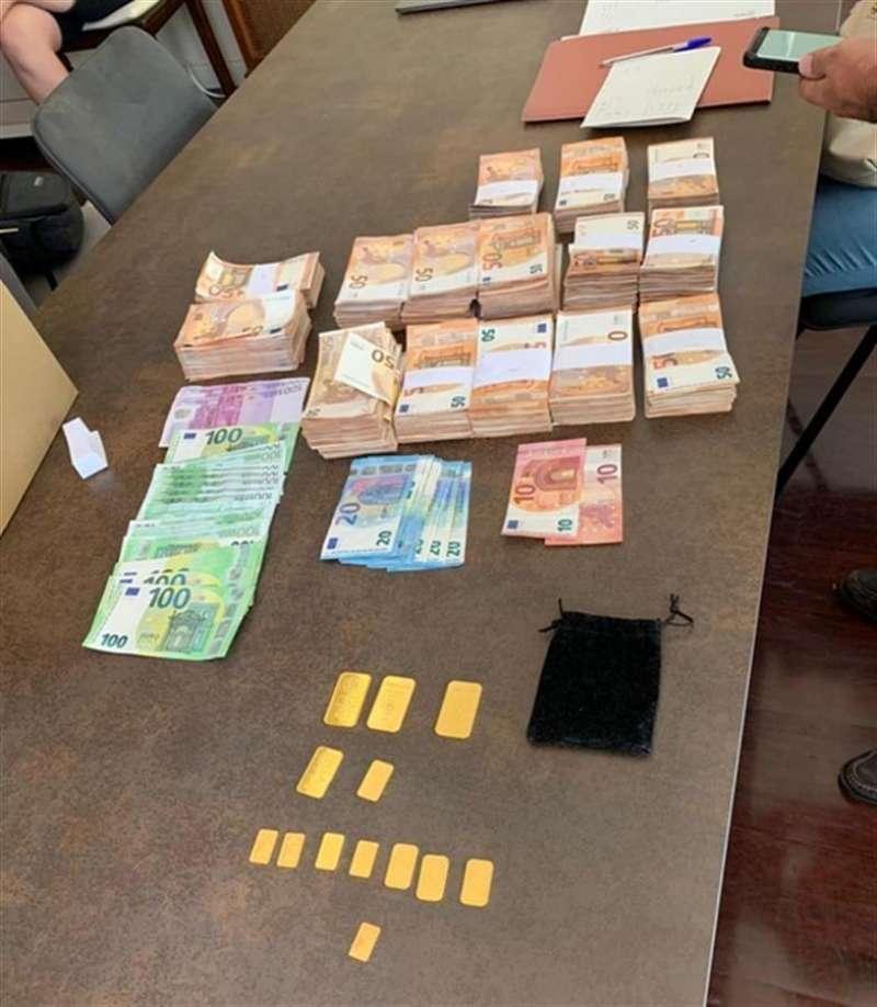 Dinero en efectivo intervenido durante la operación