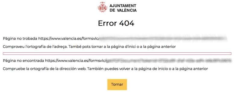 Error al descargar el PDF que certifica el mensaje al alcalde