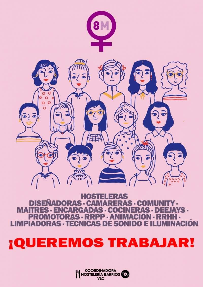 Mujeres hosteleras de Valencia denuncian la doble vulnerabilidad del colectivo femenino del sector. EPDA.