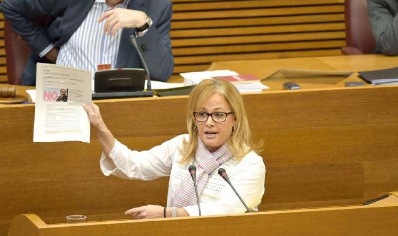 La portavoz socialista en la comisión de Radiotelevisión Valenciana y del Espacio Audiovisual, Rosa Peris. EPDA