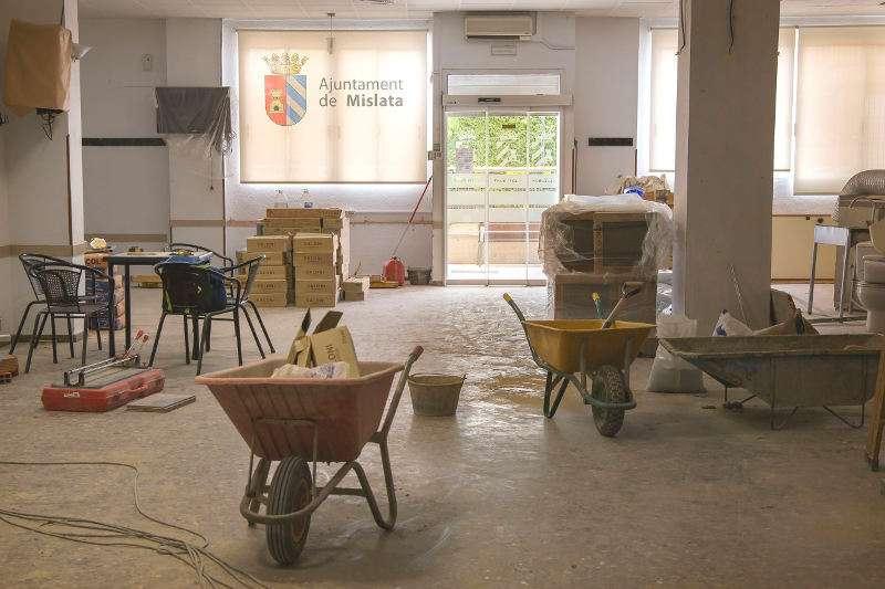 Obras de mejora en instalaciones municipales de Mislata. EPDA