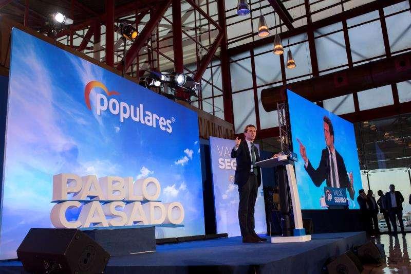 El presidente del Partido Popular y candidato a la Presidencia del Gobierno, Pablo Casado. EFE