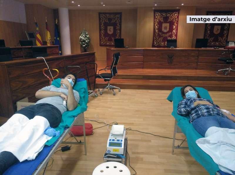 Donación de sangre en Almenara