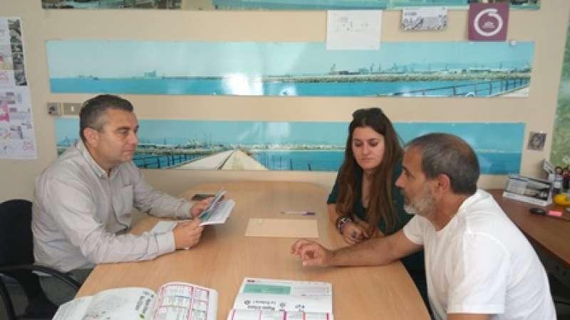 Una de las reuniones con las áreas implicadas de Sagunt. EPDA