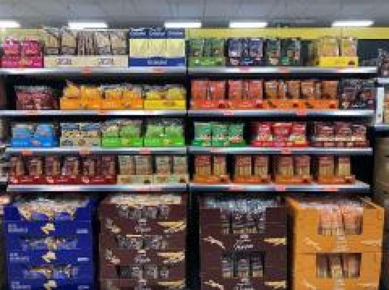 Rosquilletas en sus distintas variedades, en el lineal de una tienda Mercadona en Valencia./EPDA