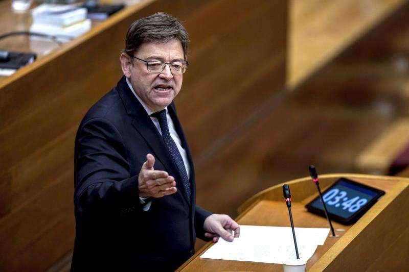El president de la Generalitat, Ximo Puig, durante una intervención en Les Corts. EFE/Archivo