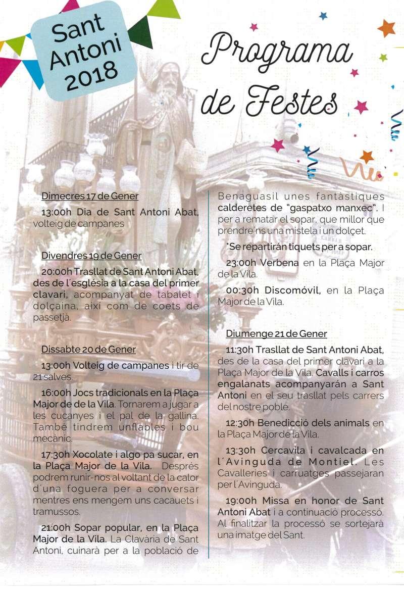 Benaguasil se prepara para celebrar la festividad de Sant Antoni Abad