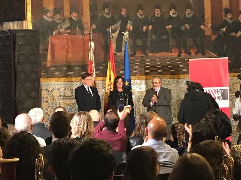 Premio para la Sociedad Musical de Segorbe. Foto: M. Raro