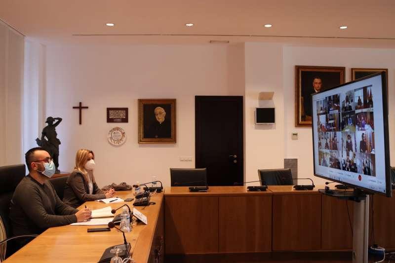 Reunión híbrida con la Generalitat