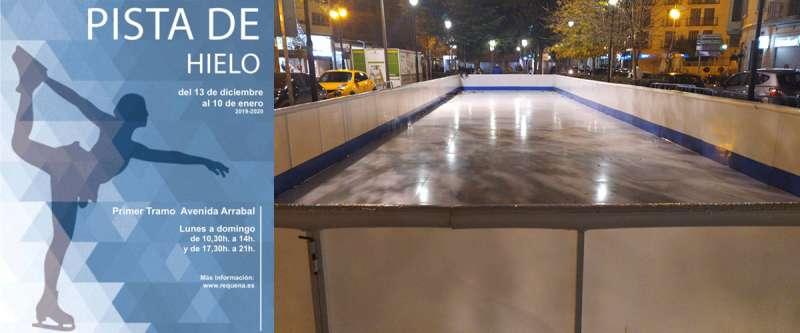 Pista de patinaje de hielo en Requena. -EPDA