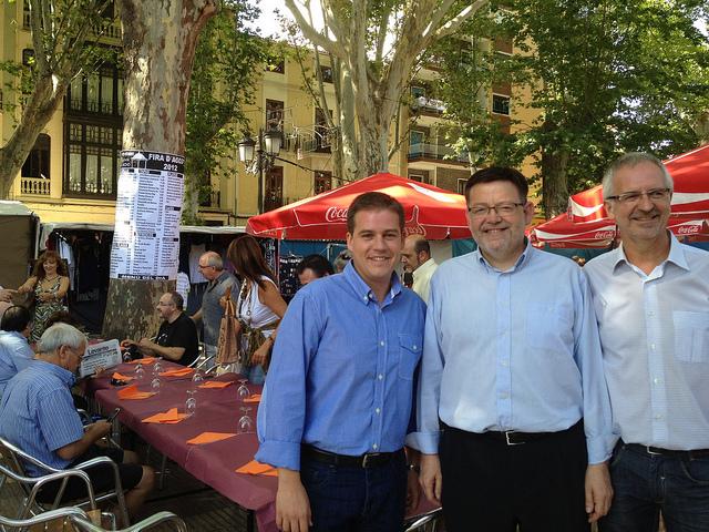 Ximo Puig en la Fira de Xàtiva (PSPV-PSOE)