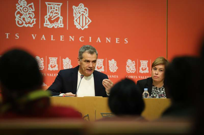 Rueda de prensa Toni Cantó y Merche Ventura. -EPDA