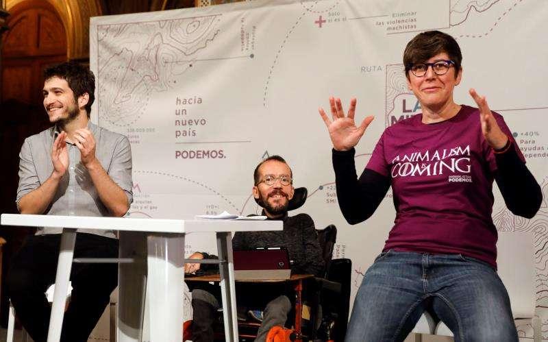 Pilar Lima en un acto de Podem. EFE/Archivo