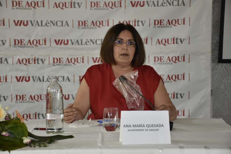 Ana María Quesada, concejala de Patrimonio, Comercios y Mercados del Ayuntamiento de Sagunt. / Plácido González