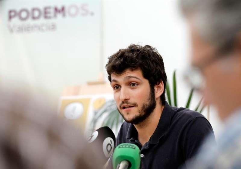 El secretario general de Podemos Comunitat Valenciana, Antonio Estañ. EFE