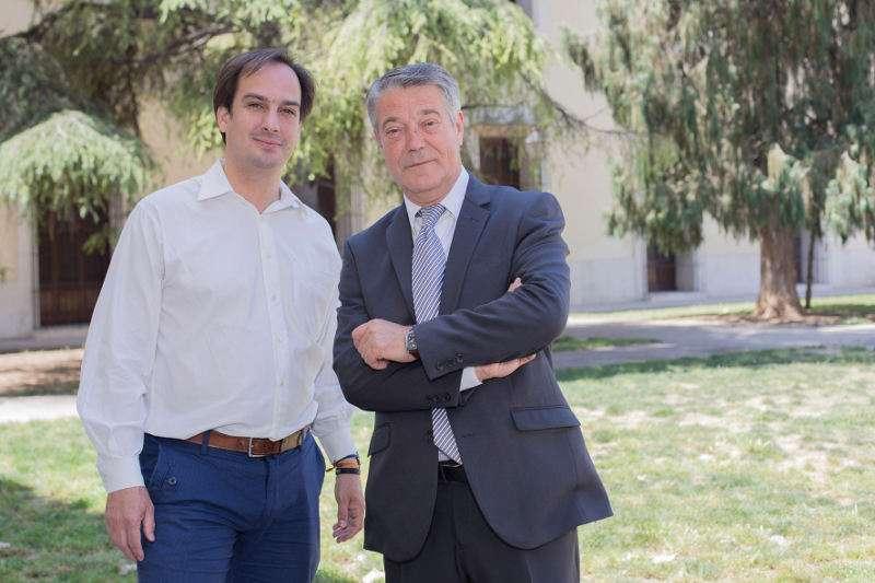 El secretario general de Som Valencians, Jaume Hurtado, y el presidente de la formación, Joan Ignaci Culla. EPDA