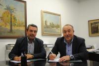 Ernesto Sanjuán y José Manuel Peralta. FOTO DIVAL