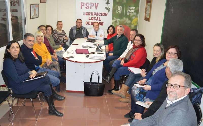 Reunión de la ejecutiva provincial del PSPV-PSOE en Segorbe
