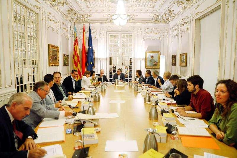 Vista general de la reunión de la Junta de Portavoces de Les Corts Valencianes. EFE/Archivo