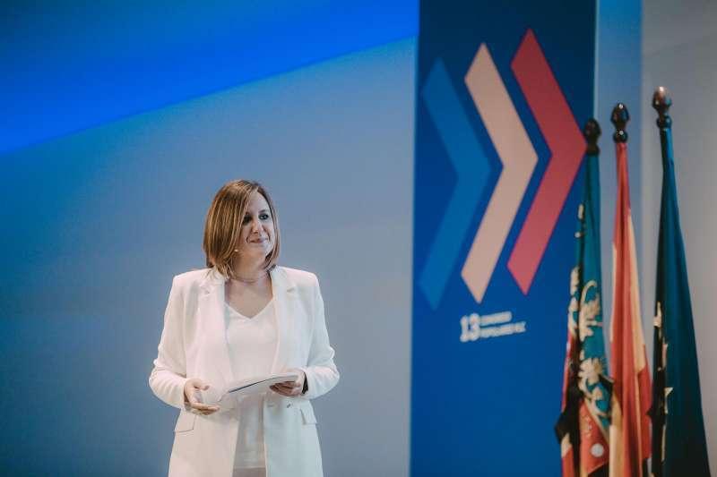 María José Catalá en la presentación de su candidatura. EPDA