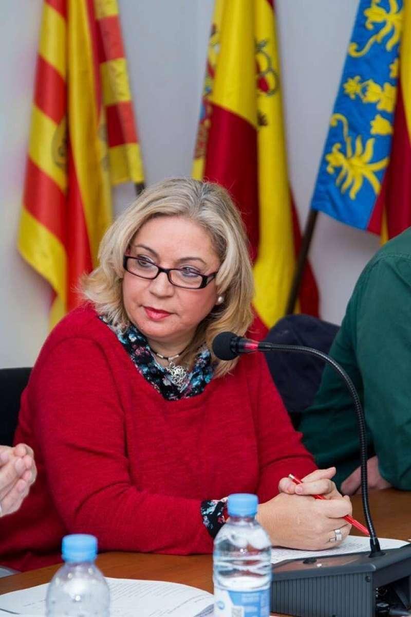 María Amor Uviedo, única concejal de EU en Canet. FOTO EPDA