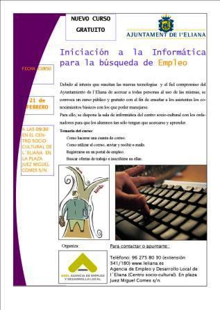 Web de los cursos del Ayuntamiento de l´Eliana. Foto EPDA