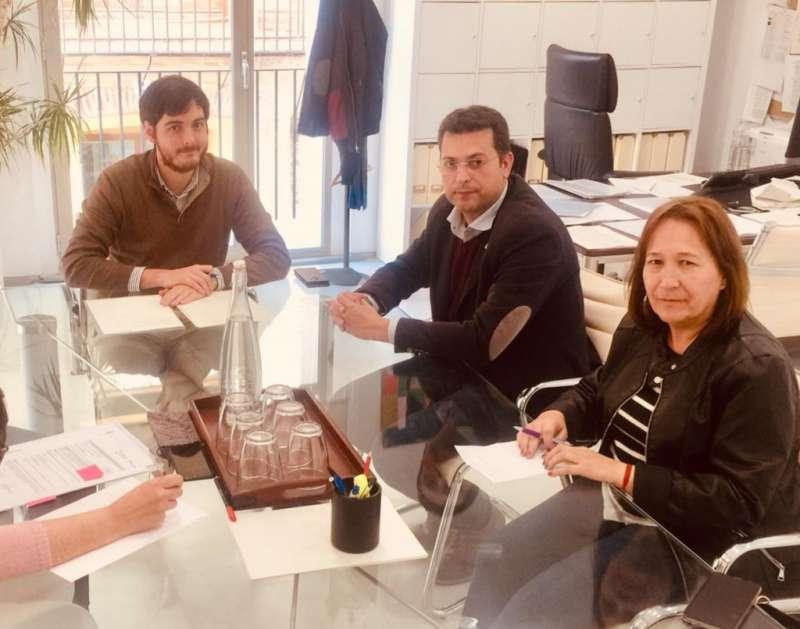 Reunión de los representantes con el alcalde. EPDA