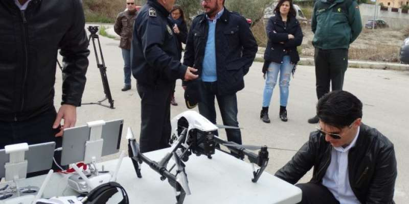 Prova de dron en Xàtiva. EPDA