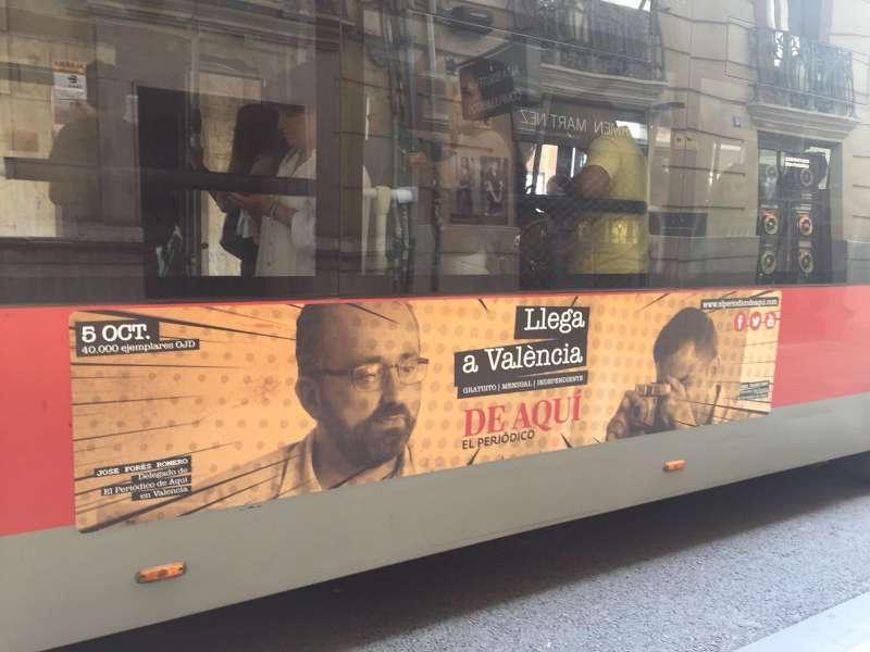 Buses y marquesinas han protagonizado una campaña publicitaria por la ciudad.