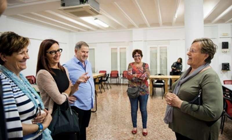 Amigó y Fontestad en la visita a las obras. EPDA