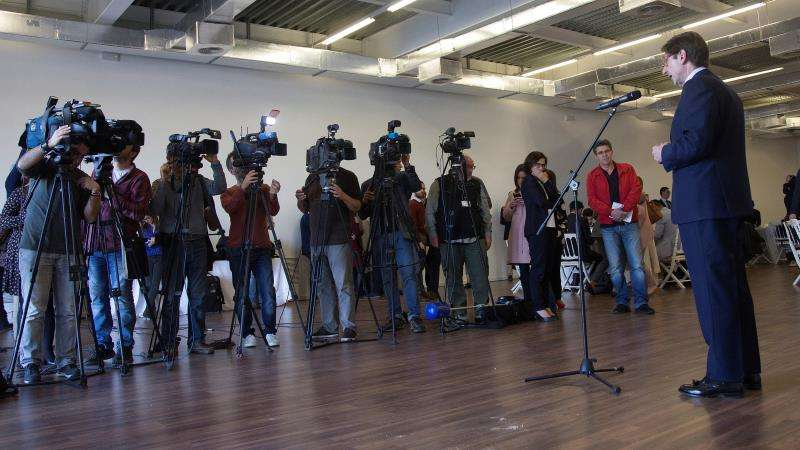 El presidente de Bankia, José Ignacio Goirigolzarri, durante el encuentro informativo con los medios. EFE/Miguel Ángel Polo