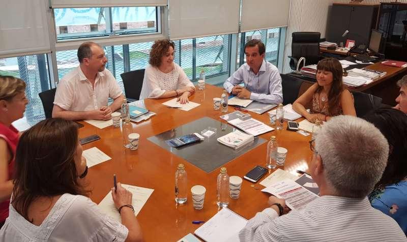 Ivace durante la reunión para aprobar el Plan de Igualdad. EPDA